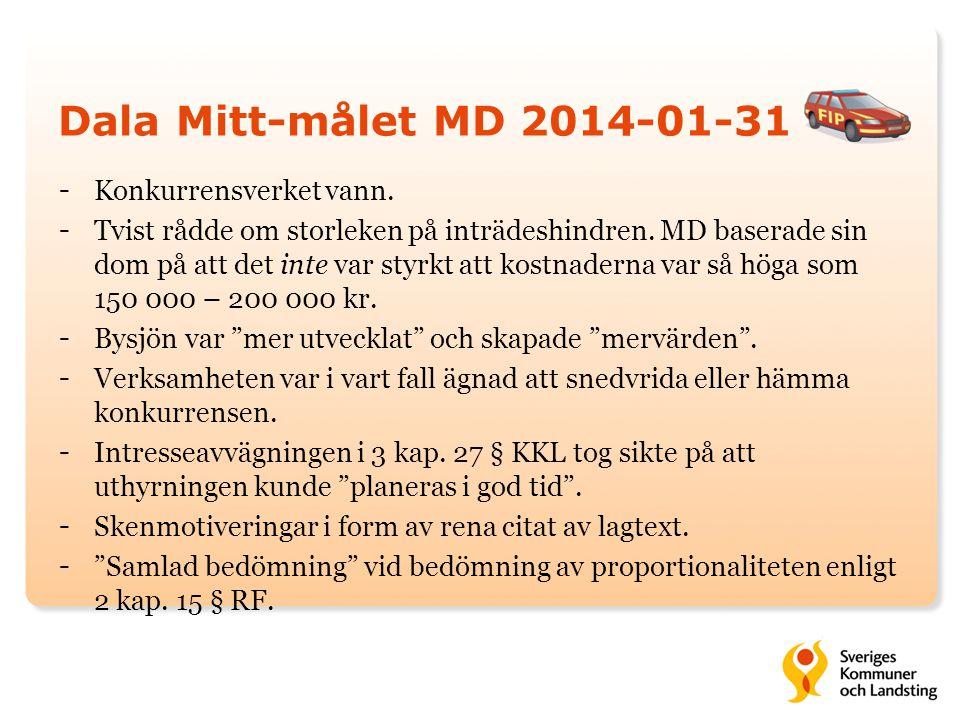 Dala Mitt-målet MD 2014-01-31 Konkurrensverket vann.