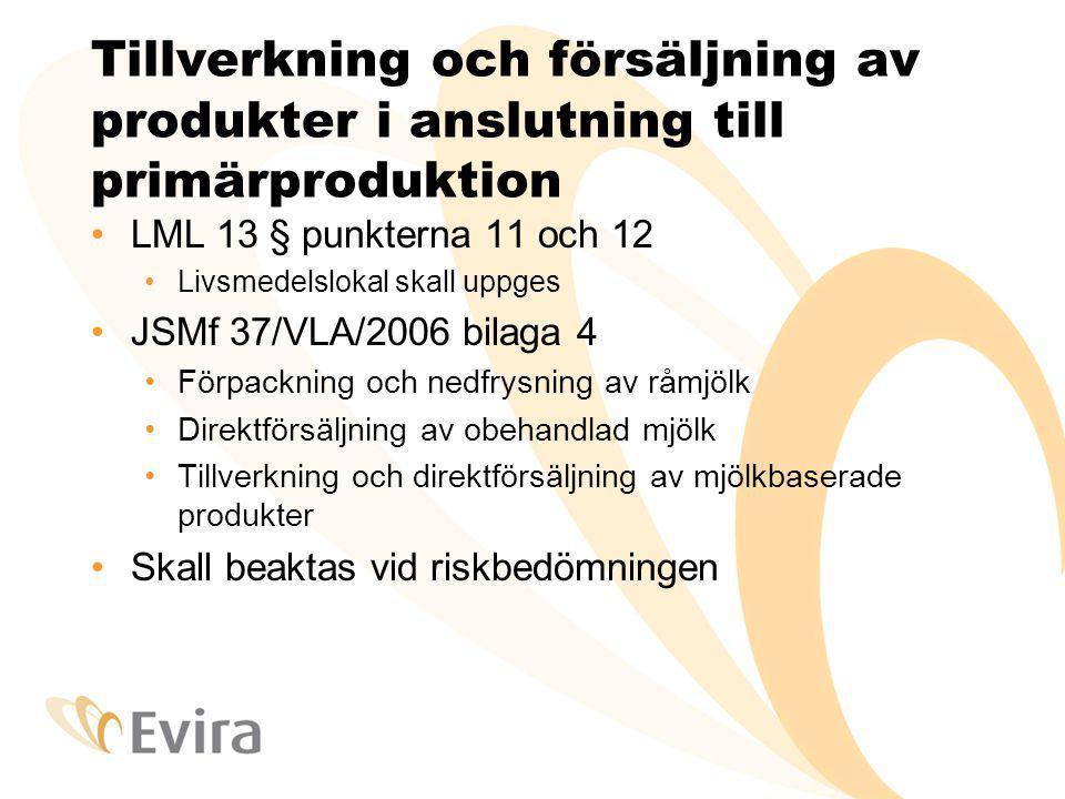 Tillverkning och försäljning av produkter i anslutning till primärproduktion