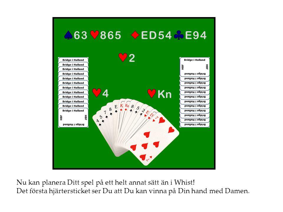 E 9 4 E D 5 4. 8 6 5. 6 3. 2. 4. Kn. Nu kan planera Ditt spel på ett helt annat sätt än i Whist!