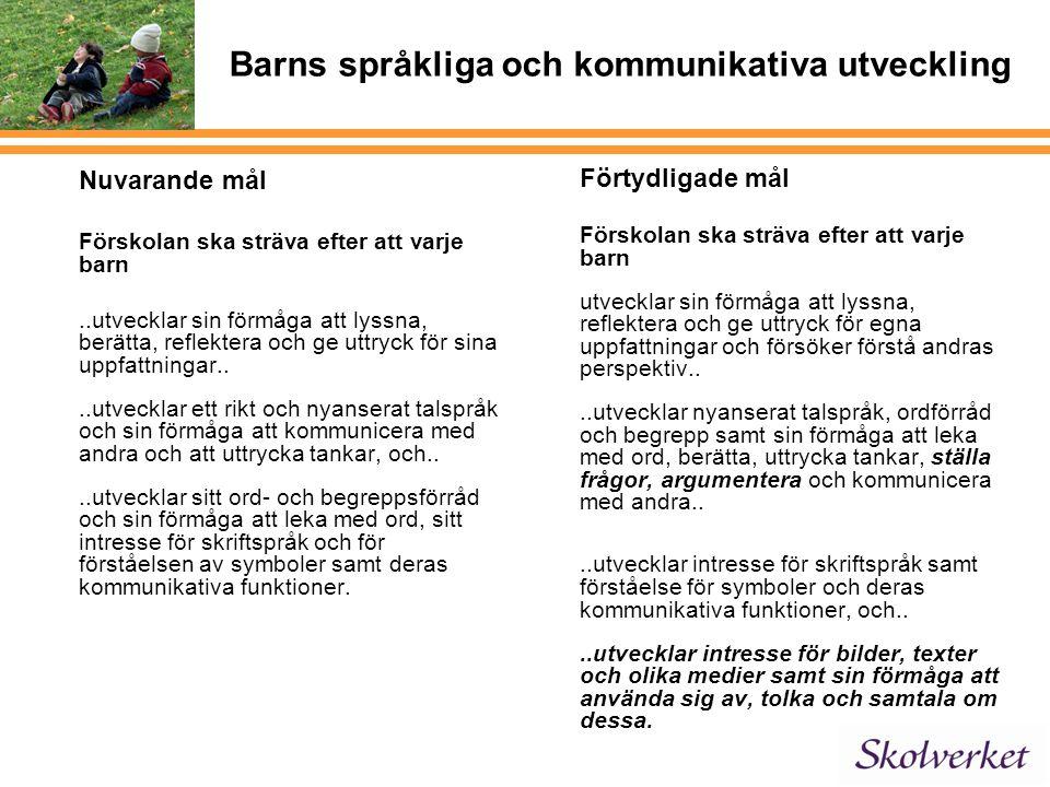 Barns språkliga och kommunikativa utveckling