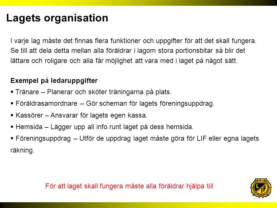 Lagets organisation