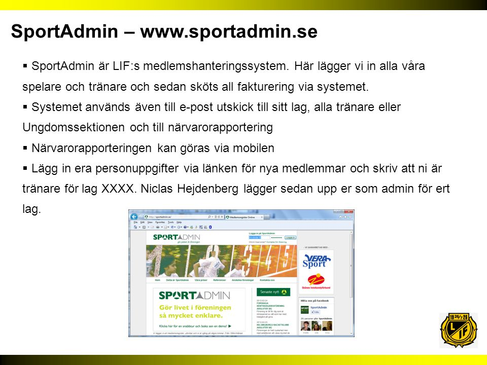 SportAdmin – www.sportadmin.se