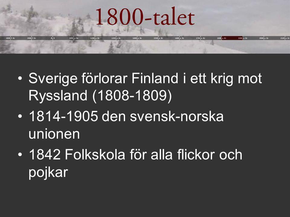 Sverige förlorar Finland i ett krig mot Ryssland (1808-1809)