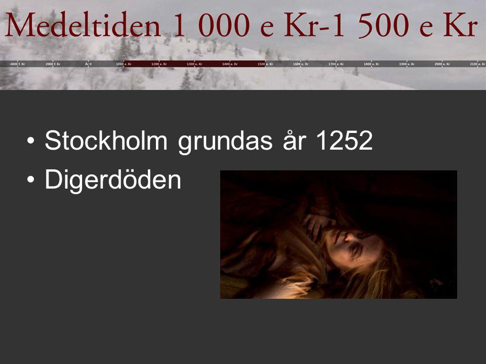 Stockholm grundas år 1252 Digerdöden
