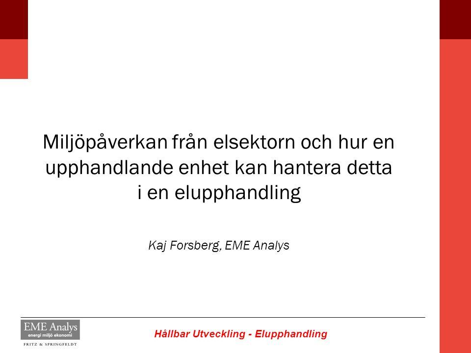 Kaj Forsberg, EME Analys
