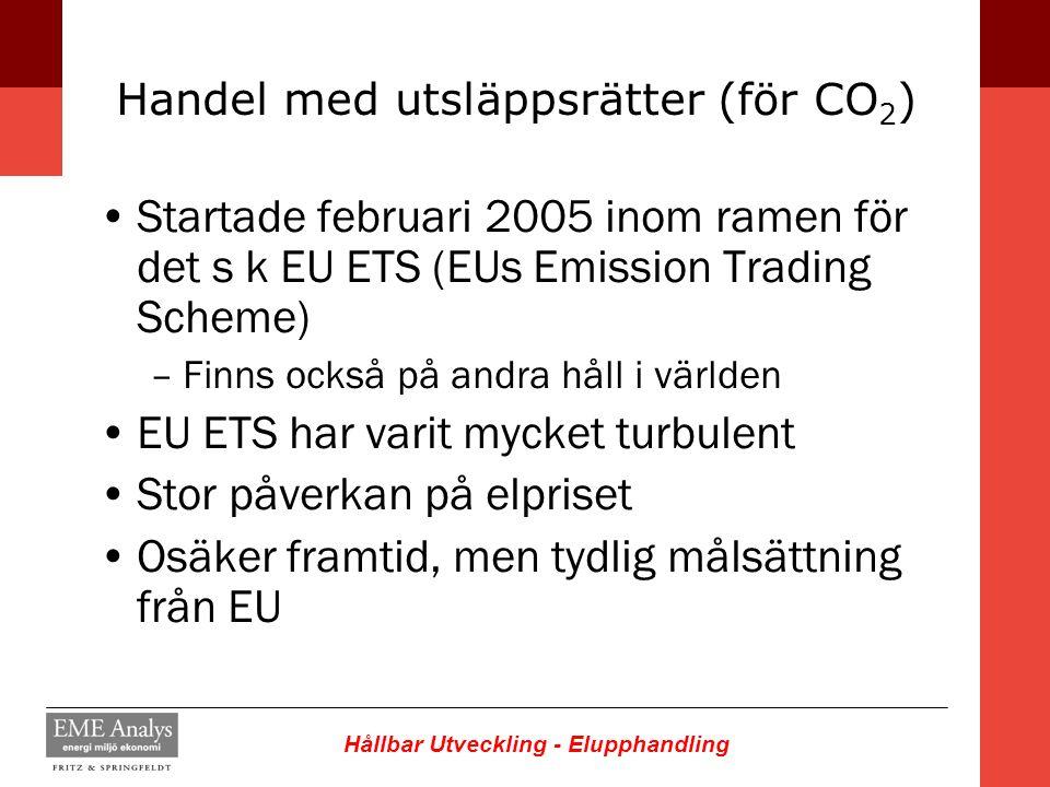 Handel med utsläppsrätter (för CO2)