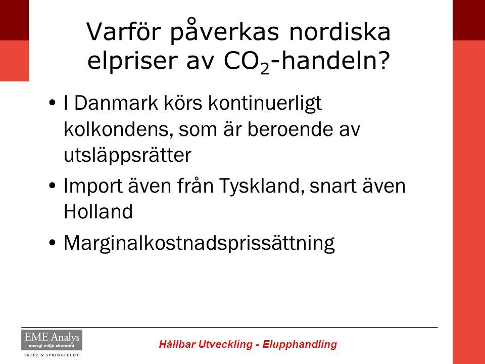 Varför påverkas nordiska elpriser av CO2-handeln