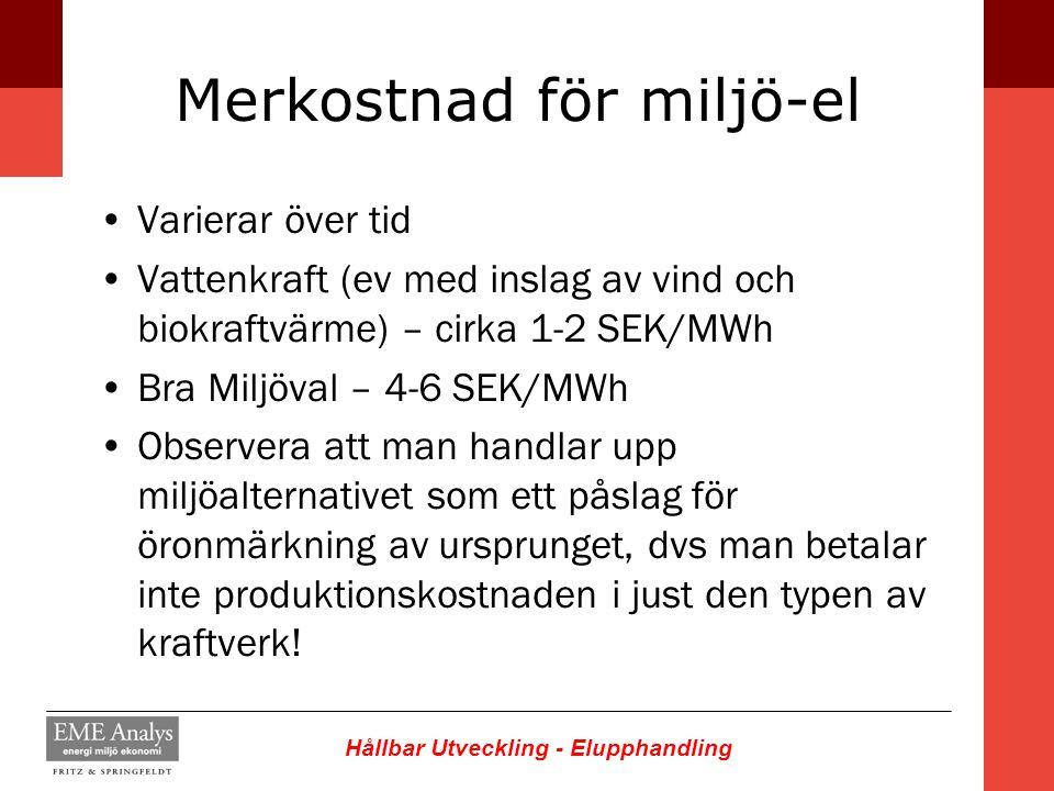 Merkostnad för miljö-el
