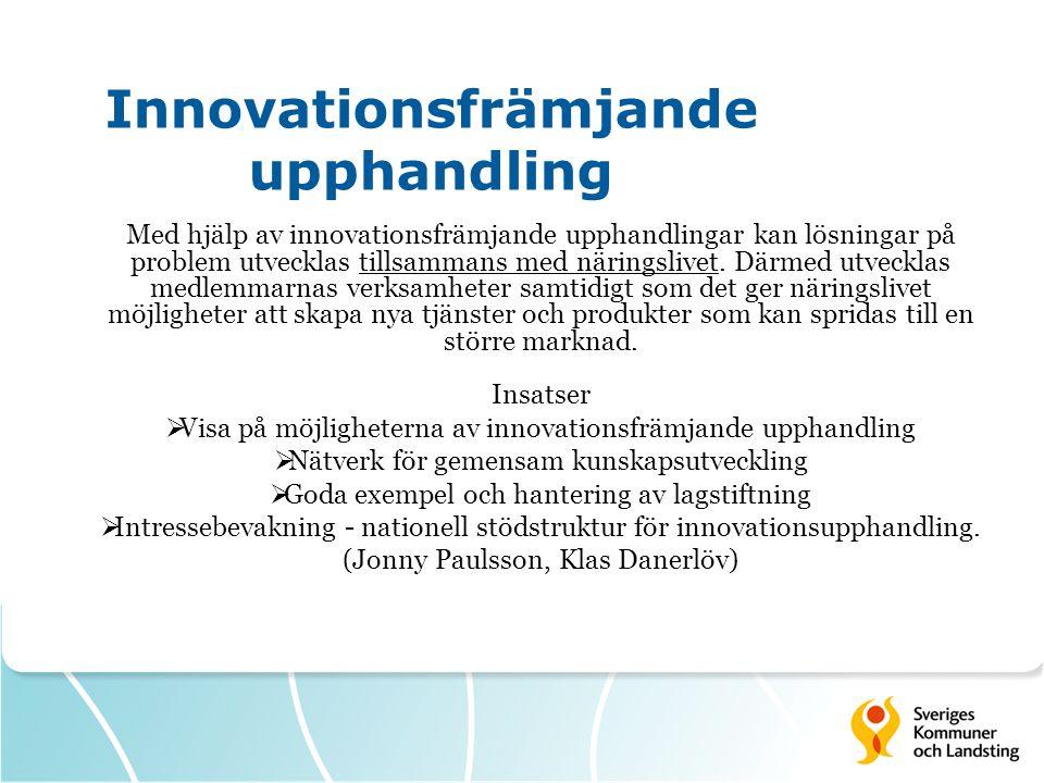 Innovationsfrämjande upphandling