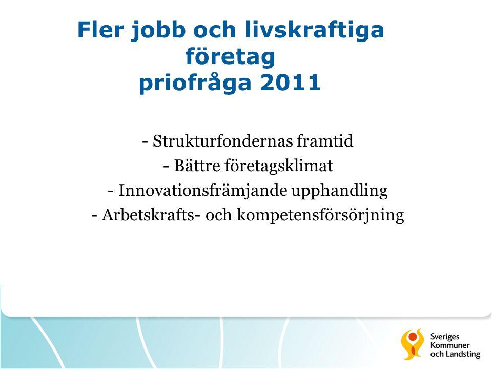 Fler jobb och livskraftiga företag priofråga 2011