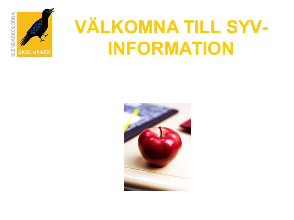 VÄLKOMNA TILL SYV-INFORMATION