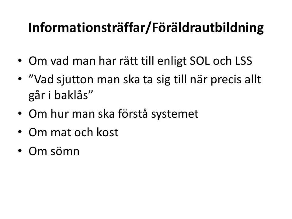 Informationsträffar/Föräldrautbildning