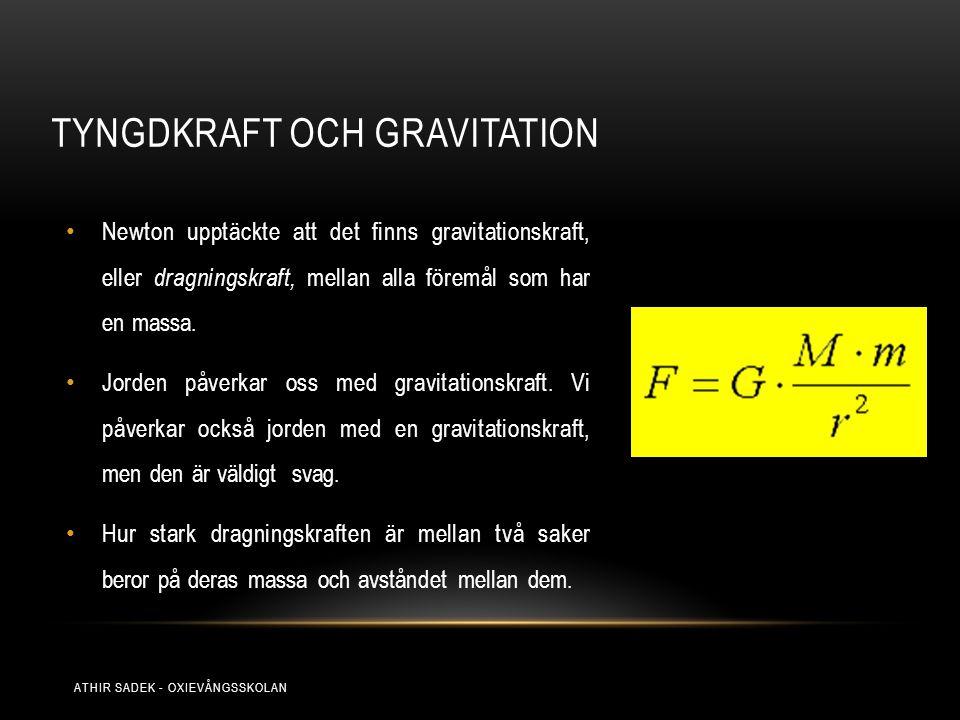 Tyngdkraft och gravitation