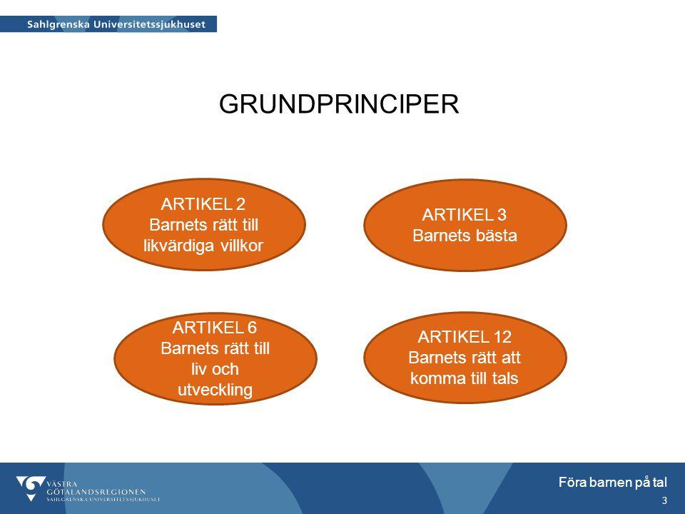 GRUNDPRINCIPER ARTIKEL 2 ARTIKEL 3