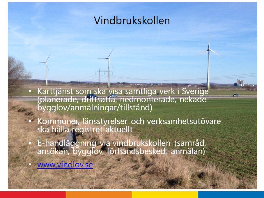 Vindbrukskollen Karttjänst som ska visa samtliga verk i Sverige (planerade, driftsatta, nedmonterade, nekade bygglov/anmälningar/tillstånd)