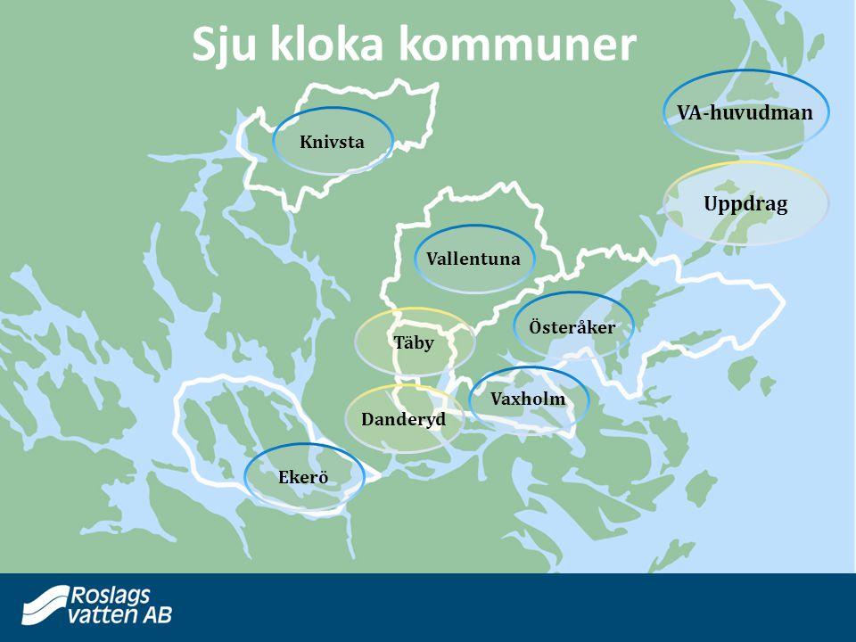 Sju kloka kommuner VA-huvudman Uppdrag Knivsta Vallentuna Österåker
