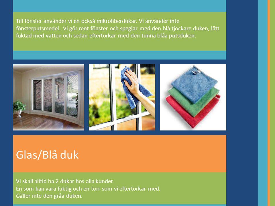 Till fönster använder vi en också mikrofiberdukar