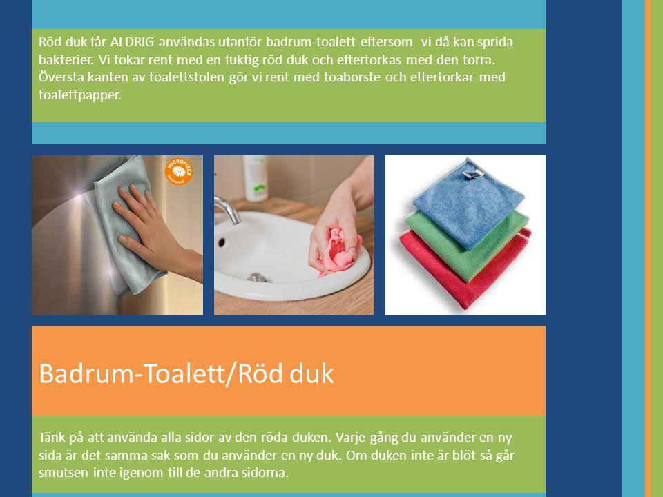 Badrum-Toalett/Röd duk