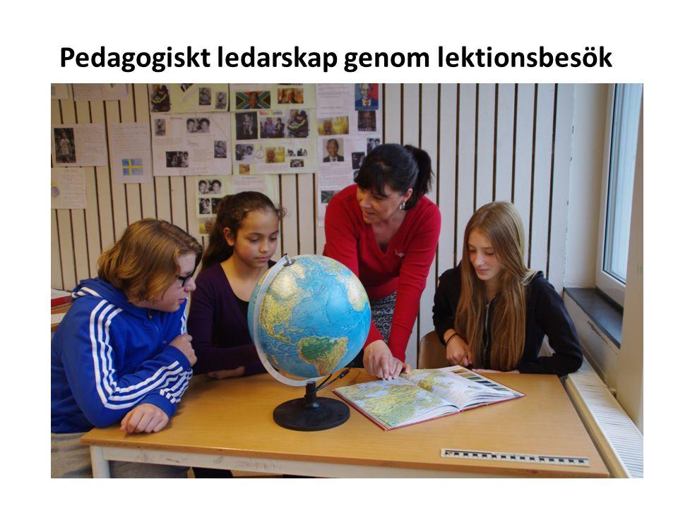 Pedagogiskt ledarskap genom lektionsbesök