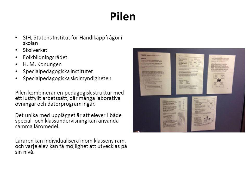 Pilen SIH, Statens Institut för Handikappfrågor i skolan Skolverket