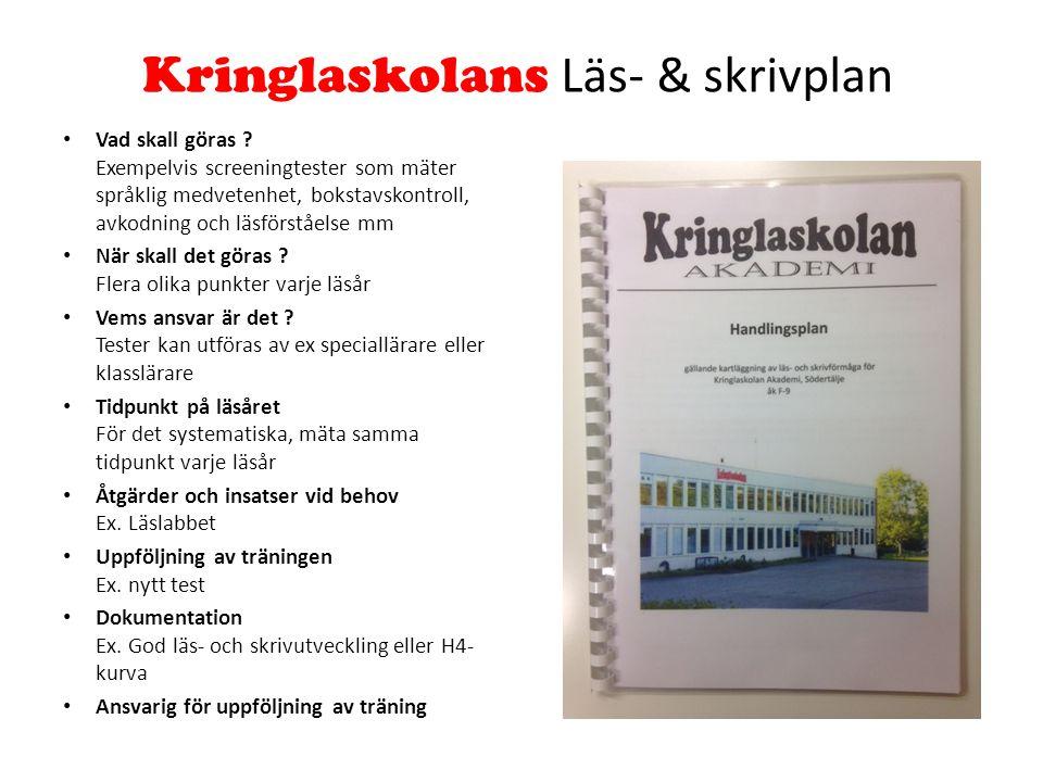 Kringlaskolans Läs- & skrivplan