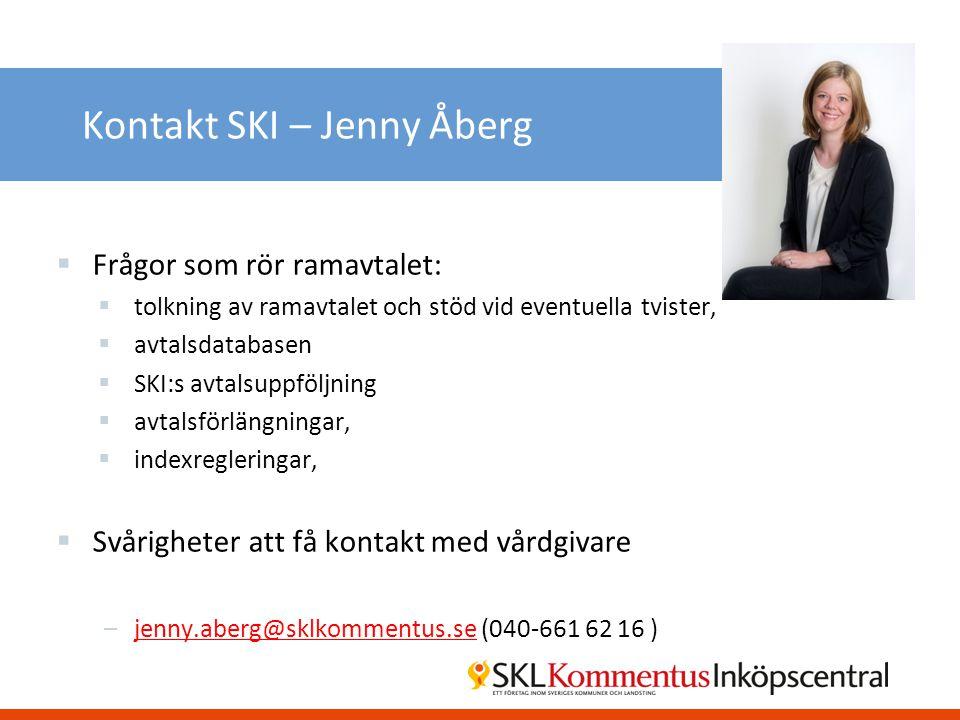 Kontakt SKI – Jenny Åberg
