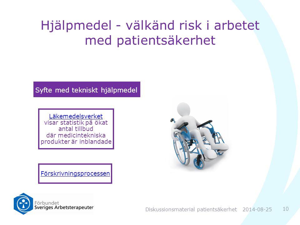 Hjälpmedel - välkänd risk i arbetet med patientsäkerhet