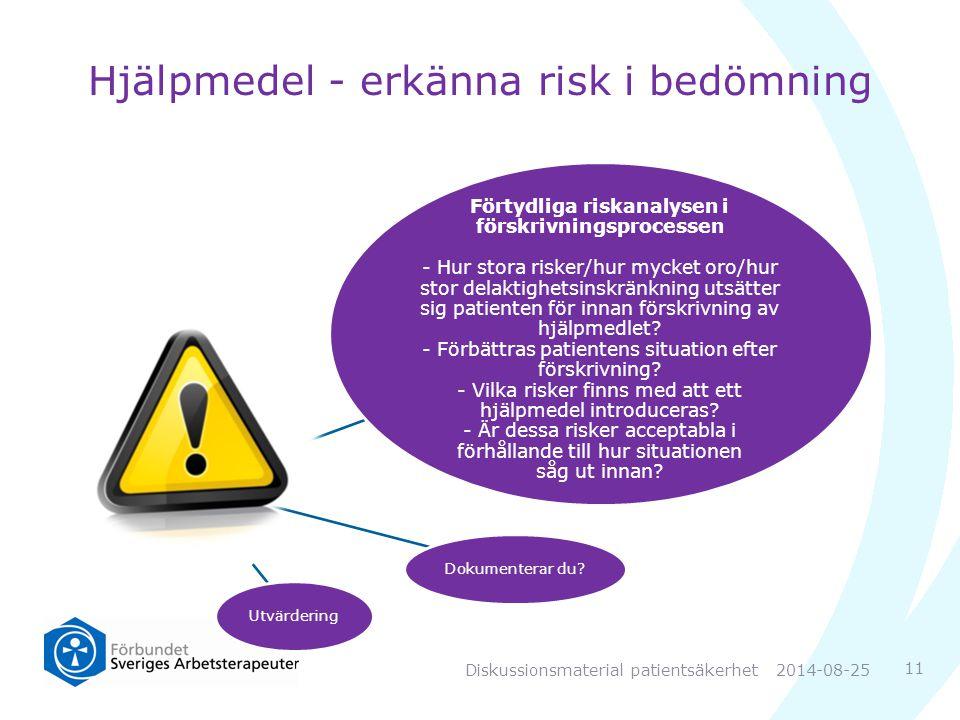 Hjälpmedel - erkänna risk i bedömning