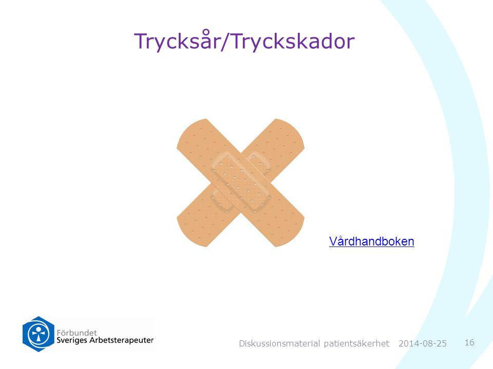 Trycksår/Tryckskador