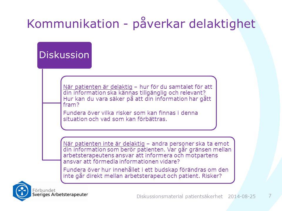 Kommunikation - påverkar delaktighet