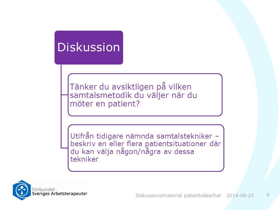 Diskussionsmaterial patientsäkerhet