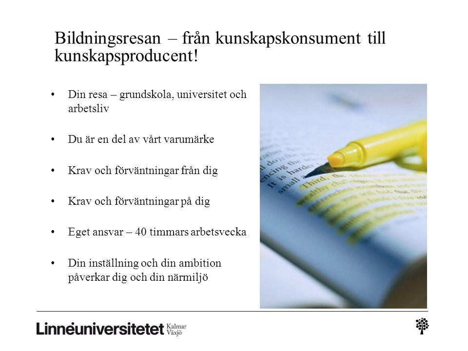 Bildningsresan – från kunskapskonsument till kunskapsproducent!