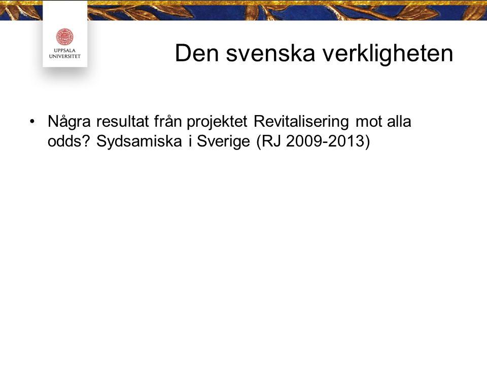 Den svenska verkligheten