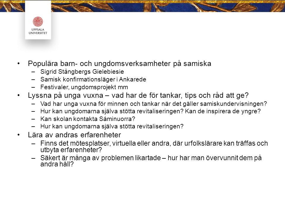 Populära barn- och ungdomsverksamheter på samiska