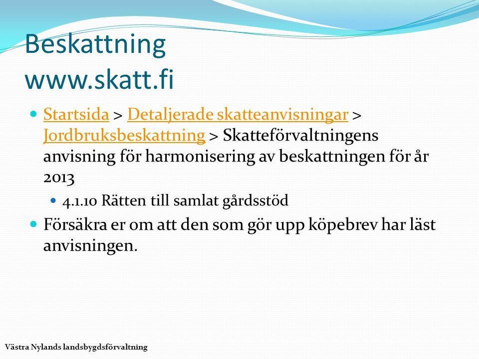 Beskattning www.skatt.fi