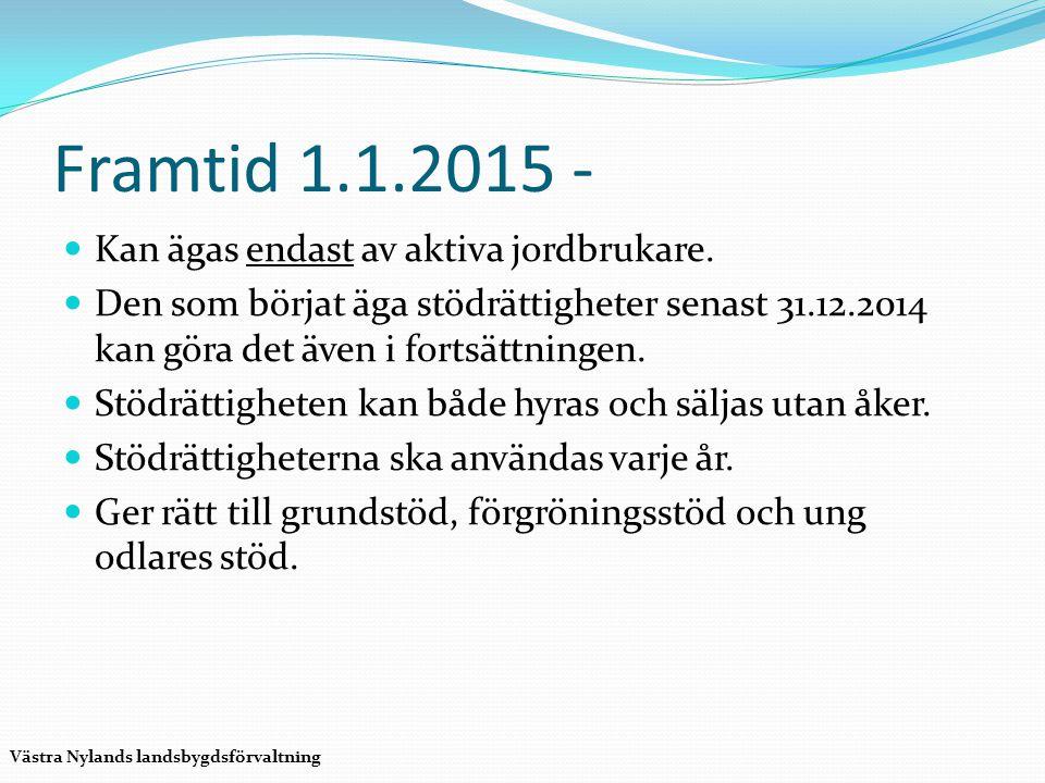 Framtid 1.1.2015 - Kan ägas endast av aktiva jordbrukare.