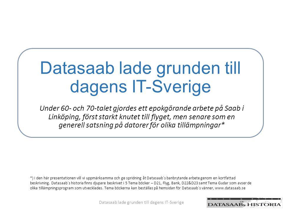 Datasaab lade grunden till dagens IT-Sverige