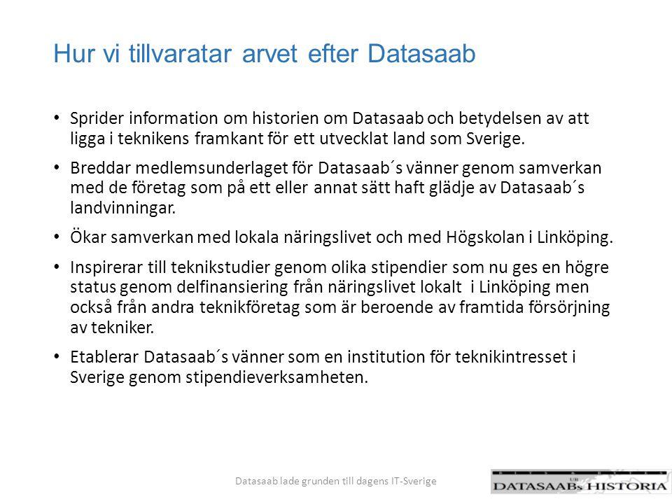 Hur vi tillvaratar arvet efter Datasaab