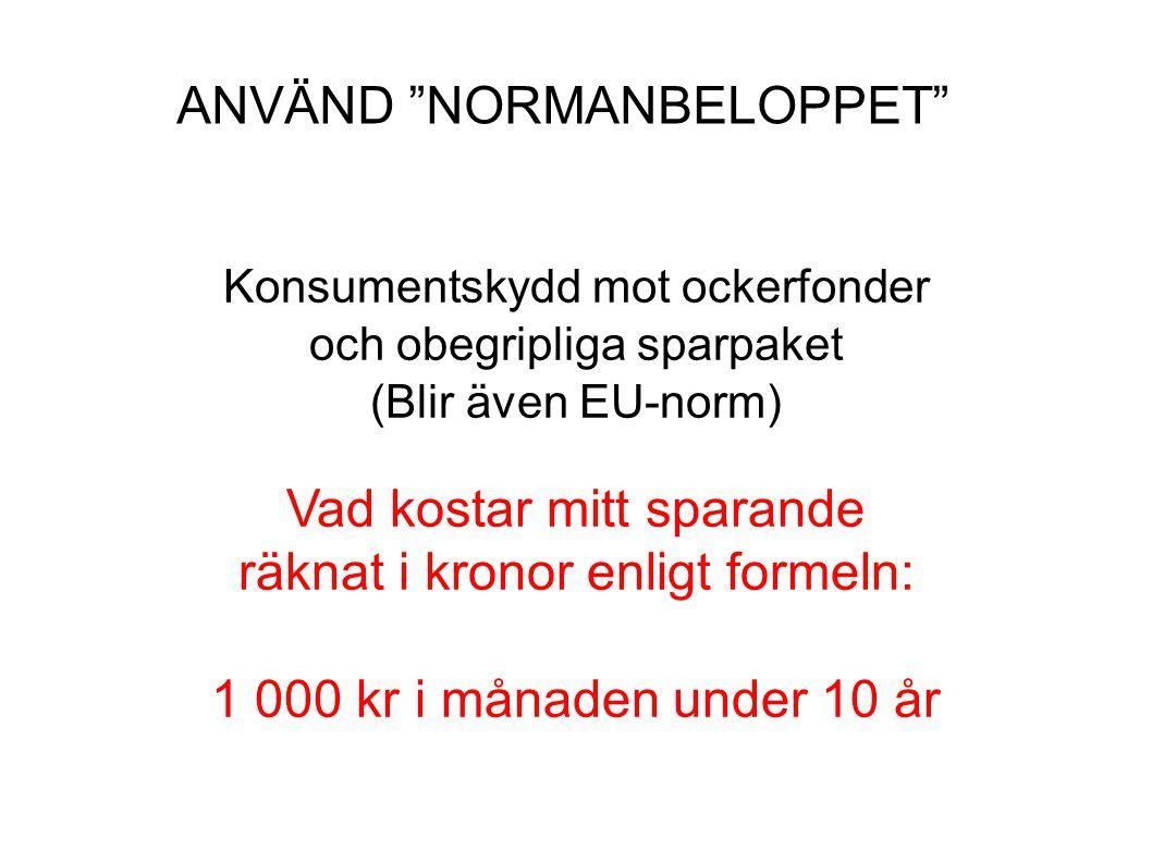 ANVÄND NORMANBELOPPET