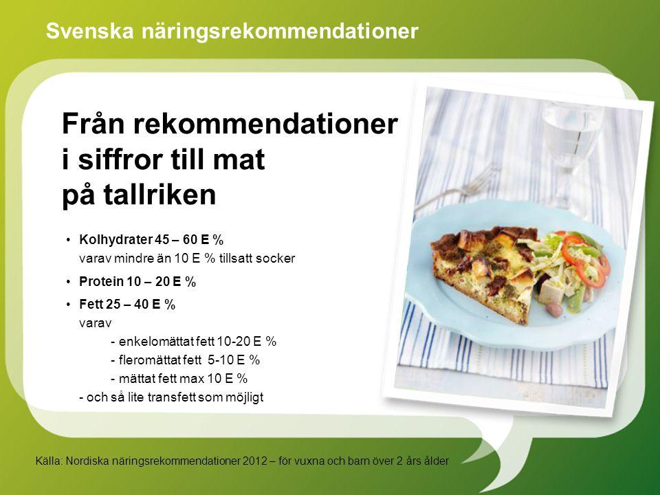 Från rekommendationer i siffror till mat på tallriken
