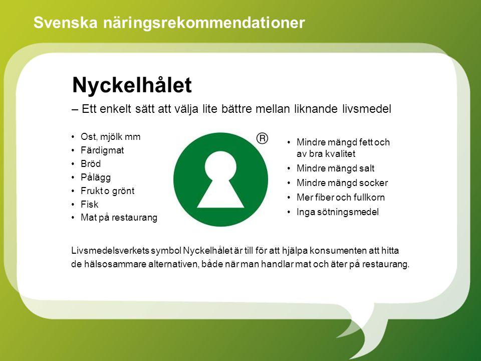 Svenska näringsrekommendationer
