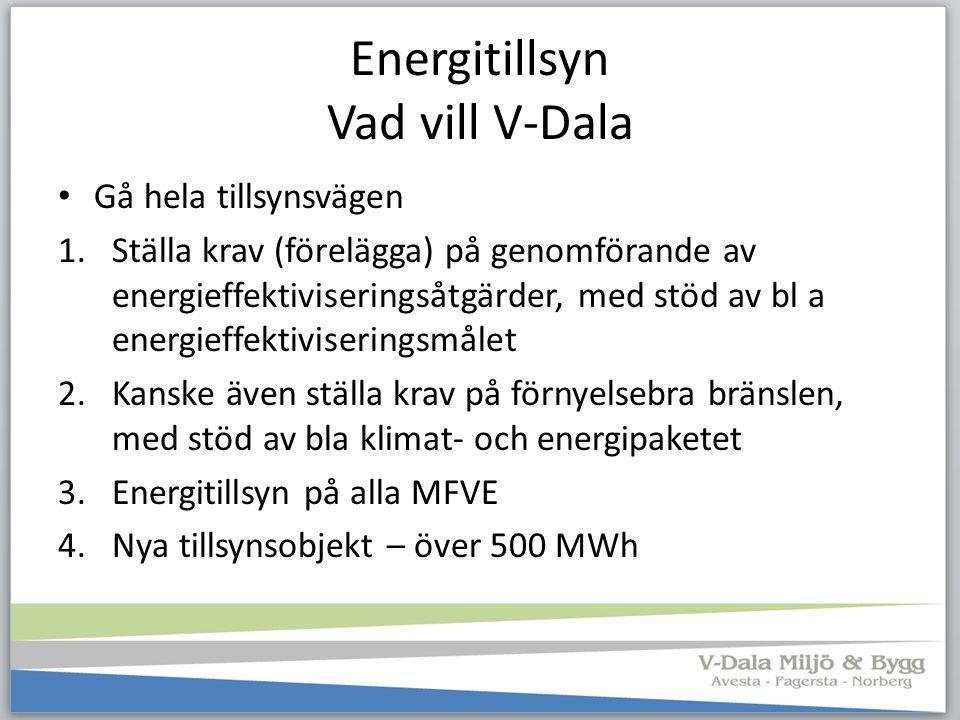 Energitillsyn Vad vill V-Dala