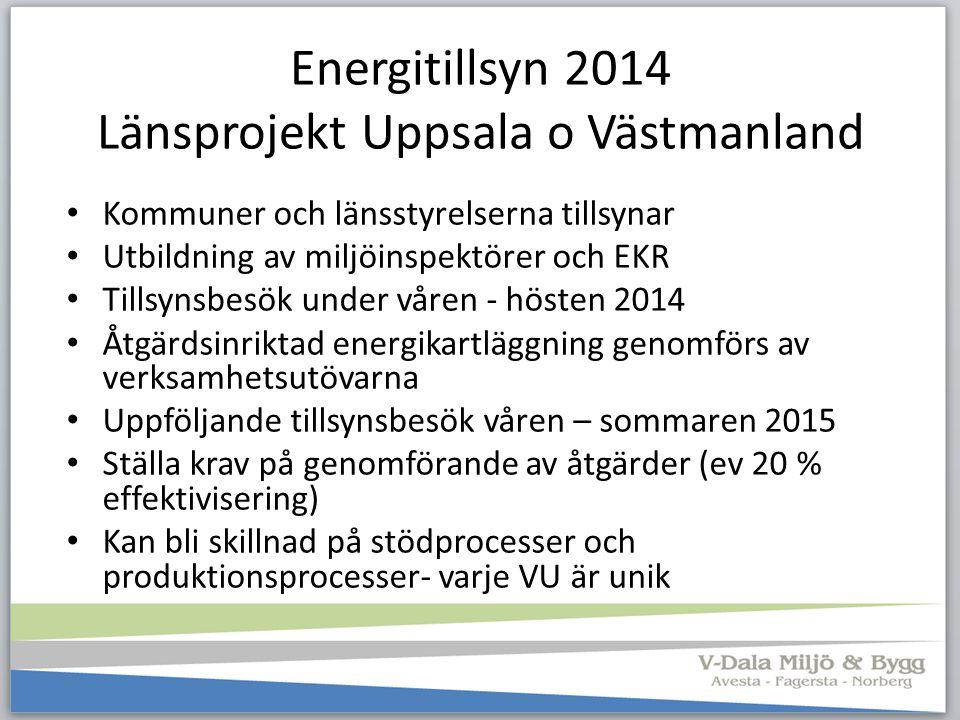 Energitillsyn 2014 Länsprojekt Uppsala o Västmanland