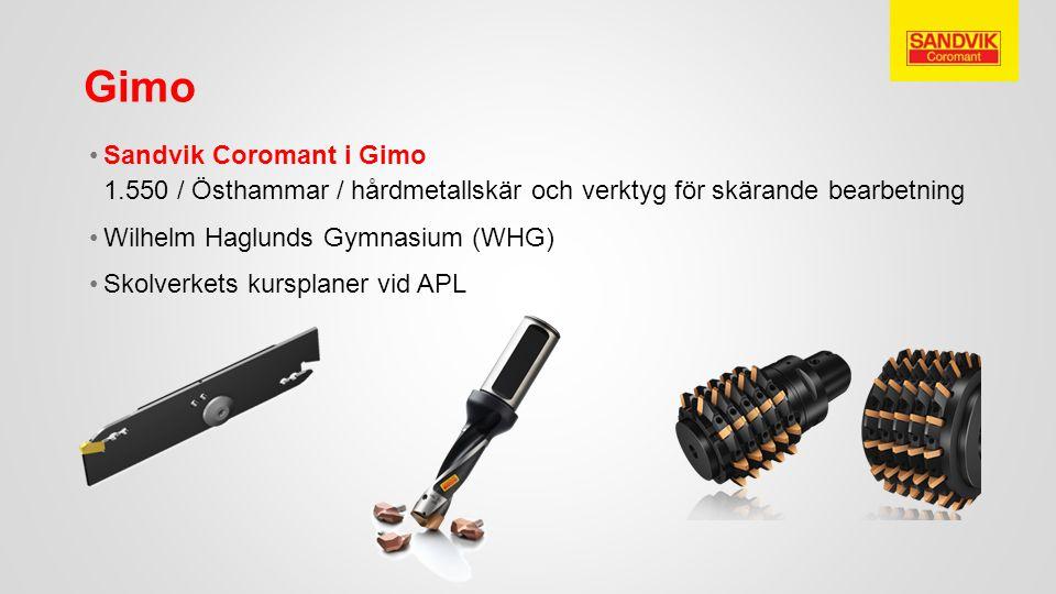 Gimo Sandvik Coromant i Gimo 1.550 / Östhammar / hårdmetallskär och verktyg för skärande bearbetning.