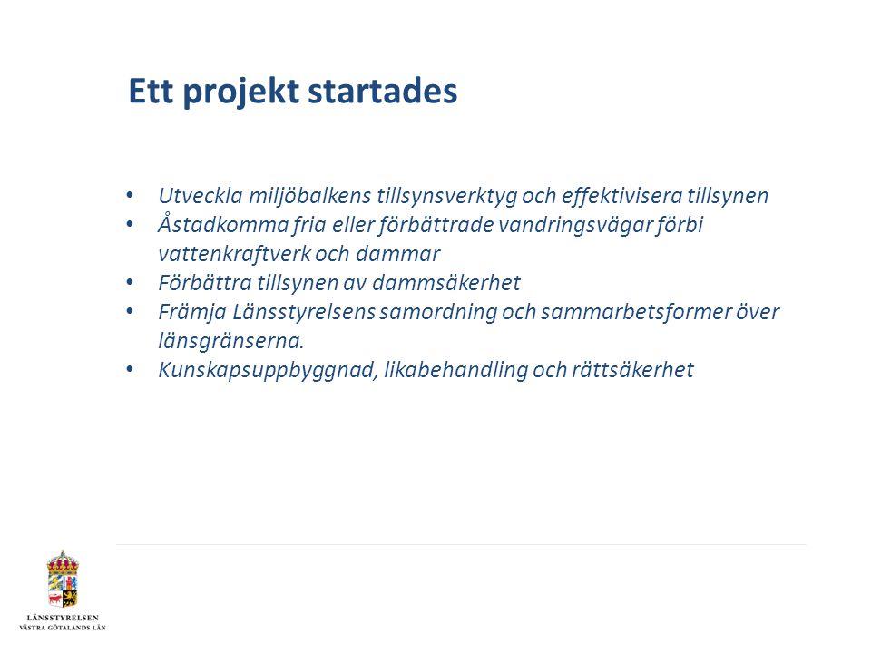 Ett projekt startades Utveckla miljöbalkens tillsynsverktyg och effektivisera tillsynen.