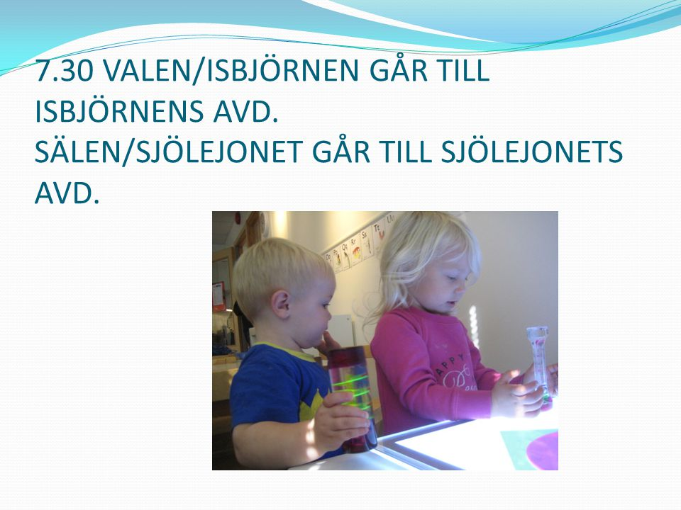 7. 30 VALEN/ISBJÖRNEN GÅR TILL ISBJÖRNENS AVD