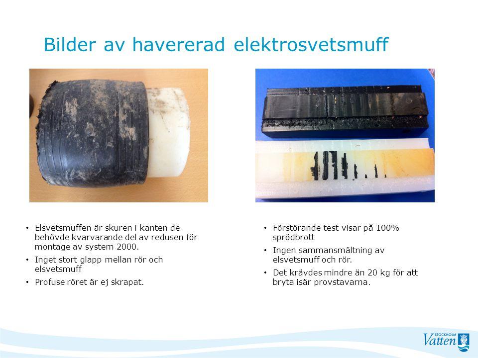 Bilder av havererad elektrosvetsmuff