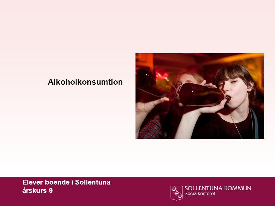 Alkoholkonsumtion Elever boende i Sollentuna årskurs 9