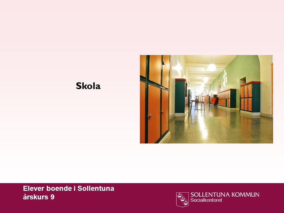 Skola Elever boende i Sollentuna årskurs 9