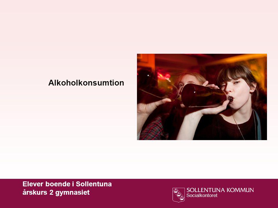 Alkoholkonsumtion Elever boende i Sollentuna årskurs 2 gymnasiet